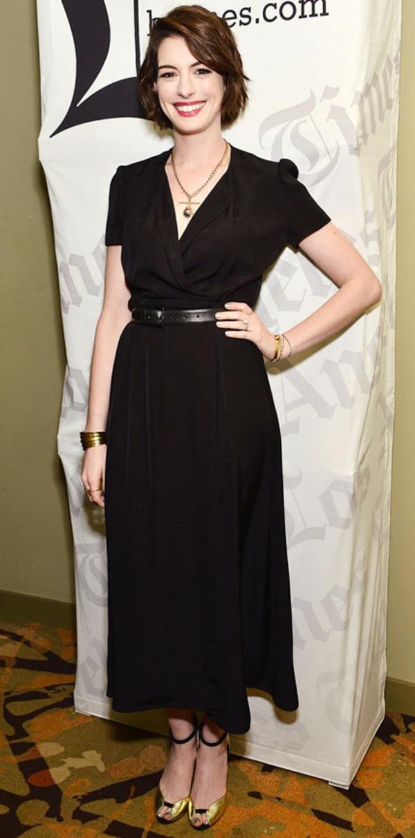 Black poplin dress