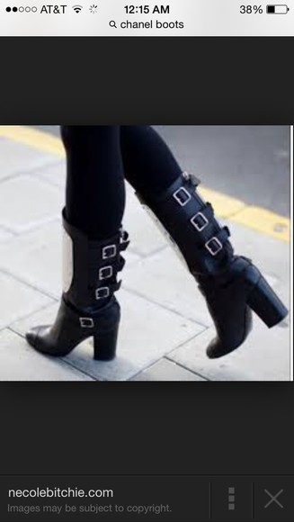 chanel shoes boots size 9