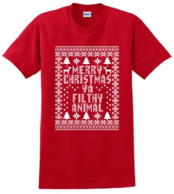 Amazon.com: Merry Christmas Ya Filthy Animal T-Shirt and Decal Bundle: Clothing