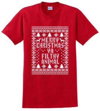 Amazon.com: Merry Christmas Ya Filthy Animal T-Shirt and Decal Bundle: Clothing