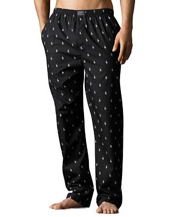 Polo Ralph Lauren Pony Print Woven Pajama Pants | Bloomingdale's