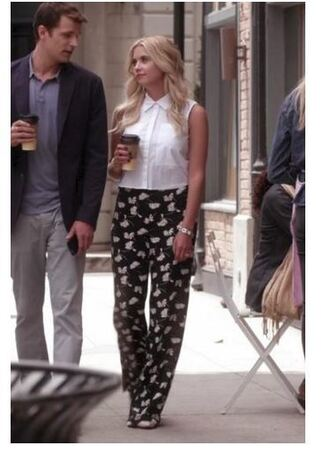 pants blouse shirt hanna marin ashley benson pretty little liars top crop tops