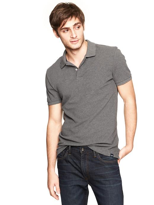 gap fitted classic polo - gray