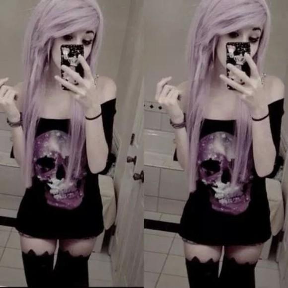t-shirt skull galaxy t-shirt