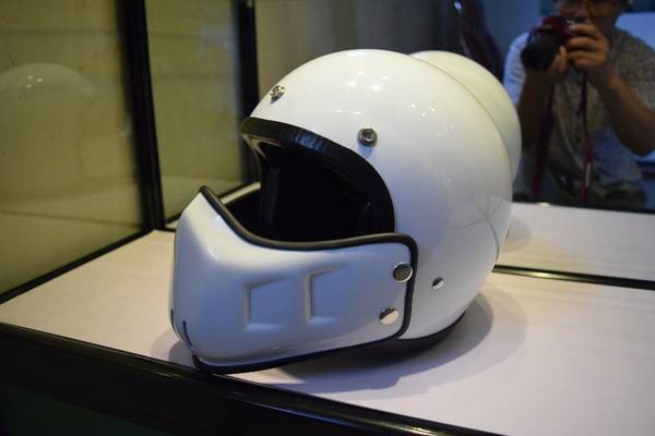Street Fighter Vintage Retro 3 4 Bubble Motorcycle Cafe Racer Helmet