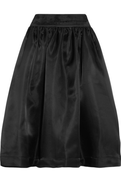 skirt midi skirt midi black silk