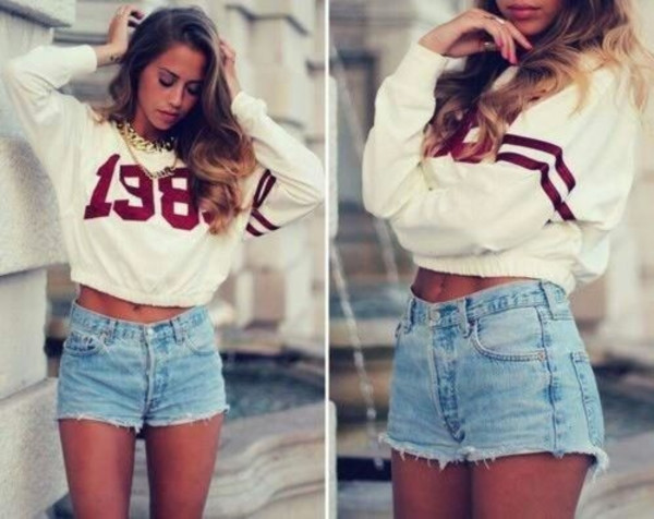 shorts clothes short top sweater