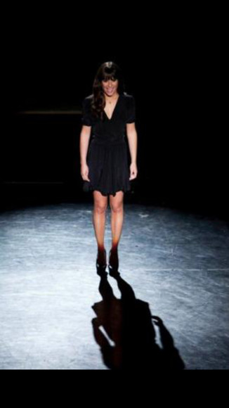 dress lea michele little black dress