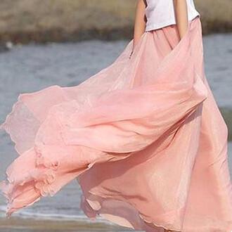 skirt summer outfits spring skirt girly topshop women outfit idea maxi skirt shiffon