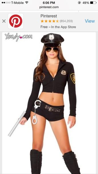 top cop costume jumpsuit halloween costume costume outfit sexy costume sexy halloween costume sexy halloween accessory shirt