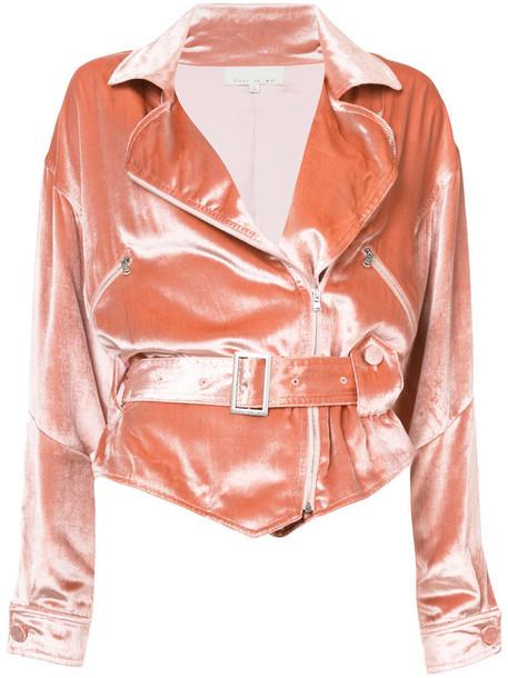 Fleur du Mal jacket women silk purple pink