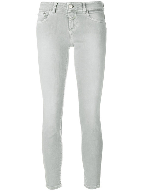 Closed women spandex fit cotton grey pants