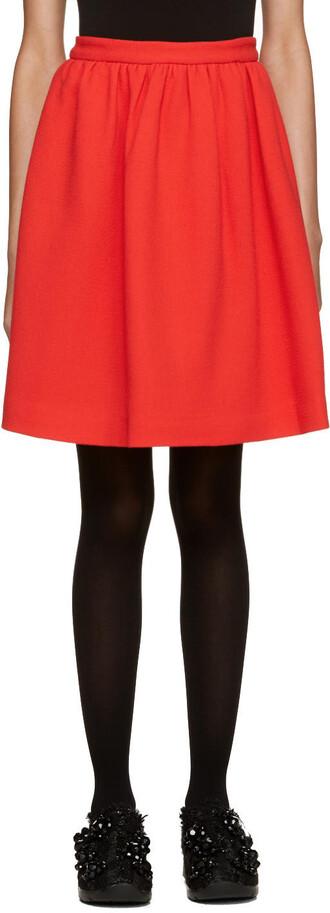 miniskirt red skirt