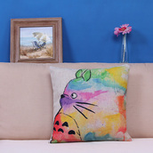 home accessory,print,pillow,home decor,totoro,mothers day gift idea,quote on it,colorful