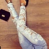 jeans,sportswear,trendy,blue jean levies,lace up,lace-up shoes,lace top,boyfriend jeans bottoms jeans denim nsf,fashion,embellished denim,blue