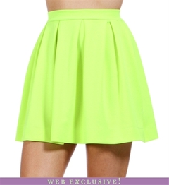 NEON YELLOW PLEATED SKIRT on The Hunt