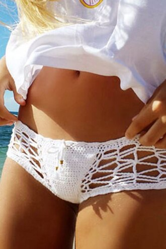shorts trendy white crochet stylish summer beach fashion style hot sexy tan zaful