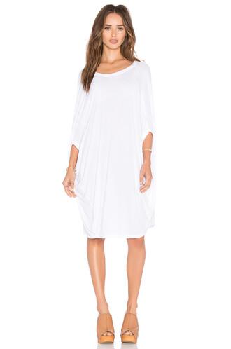 tunic draped white