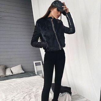 jacket maniere de voir fur jacket fur fur panel suede jacket 36683