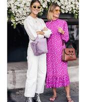 bag,shoulder bag,leather bag,flip-flops,midi dress,ruffle dress,yellow sunglasses,snake print,cropped pants,wide-leg pants
