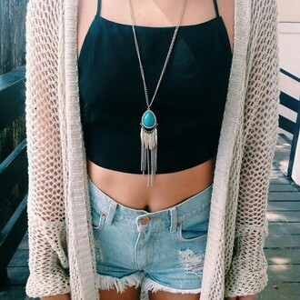 skirt shirt cardigan jewels