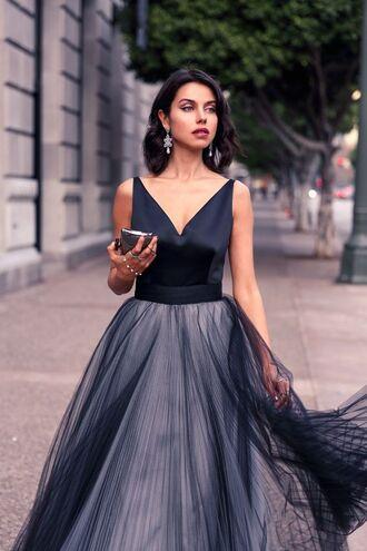 bag clutch metallic clutch dress black dress maxi dress ball gown dress gown prom dress prom gown viva luxury blogger statement earrings earrings silver clutch