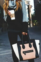 sweater,grey,black,turtleneck,oversized sweater,clothes,bag,comfy,big,cozy,knit,handbag,purse,white,nude,Accessory