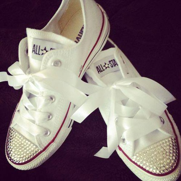 shoes sneakers crystal swarovski converse