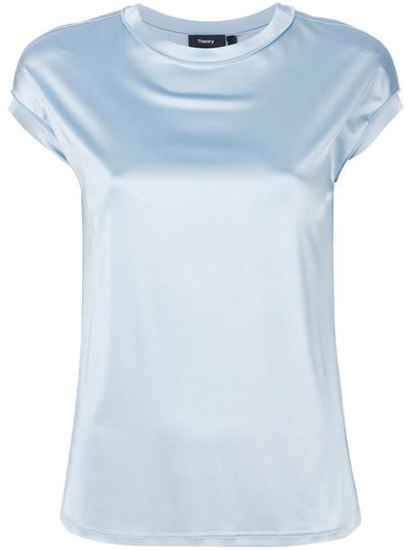 theory t-shirt shirt t-shirt women spandex blue top