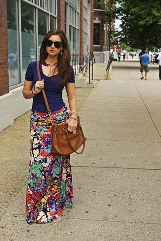skirt floral skirt maxi