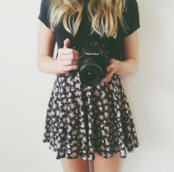 floral skirt floral