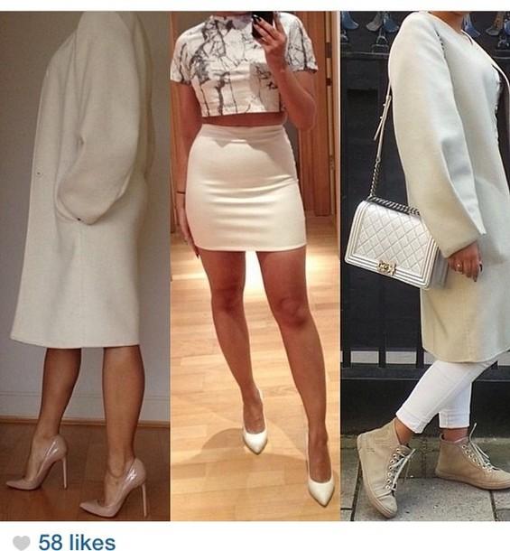 shirt skirt crop tops