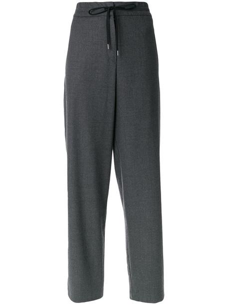 Odeeh casual women spandex cotton wool grey pants
