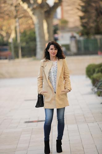 estelle blog mode blogger trench coat blouse coat shoes