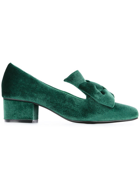 macgraw women love lady pumps leather velvet green shoes