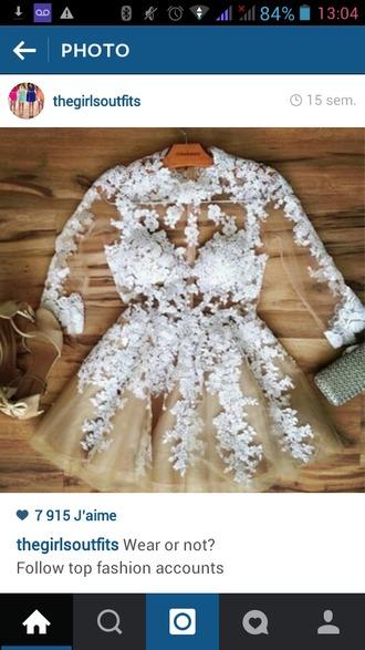 dress nude dress white dress lace dress prom dress cute dress