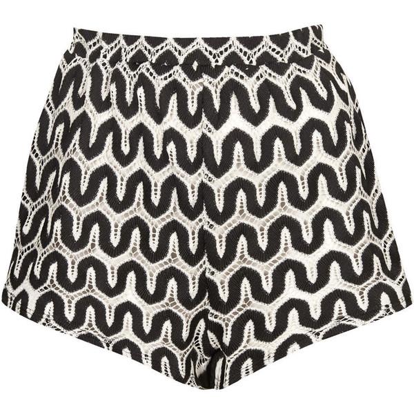 TOPSHOP Monochrome Zig Zag Shorts