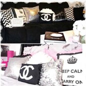 home accessory,pillow,chanel,girly