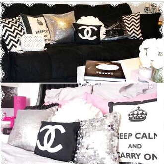 home accessory pillow chanel girly