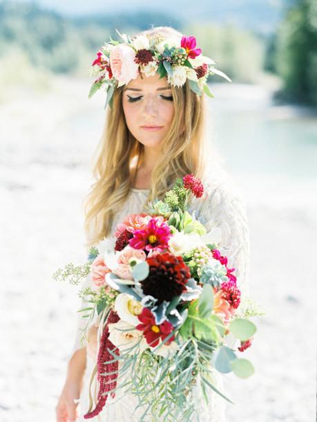 100 layer cake blogger boho chic bohemian lace wedding dress flower crown  rustic 0eabfce027e