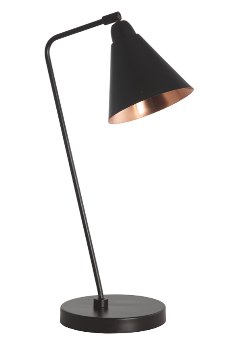 Carter Retro Industrial Black Copper Table Lamp Discontinued