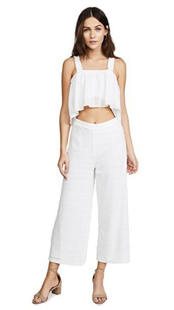 Saylor jumpsuit white