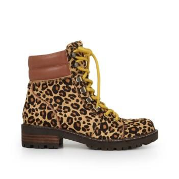 Sam Edelman Tamia Hiker Bootie New Nude Leopard/Whiskey