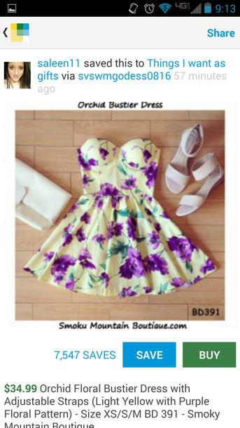 dress orchid floral bustier floral bustier dress