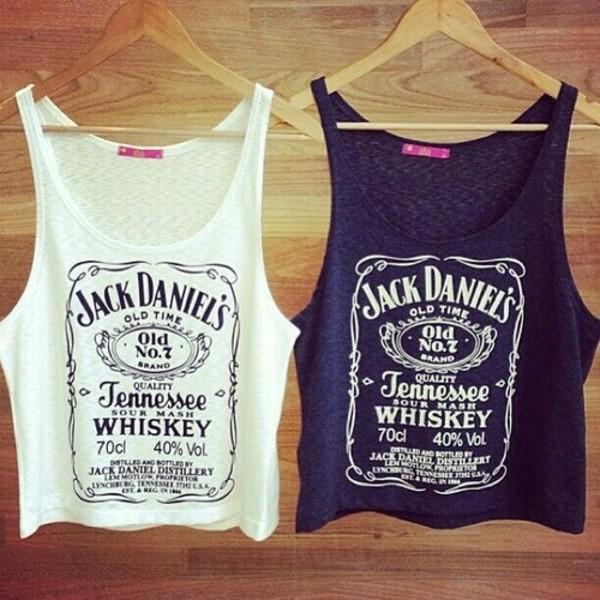 ebay jack daniel 39 s print vest top t shirt and tank. Black Bedroom Furniture Sets. Home Design Ideas