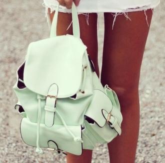 bag mint backpack pastel bag