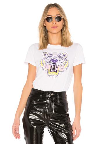 shirt classic tiger white top
