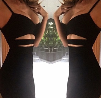dress black dress little black dress strappy dress illusion fashion