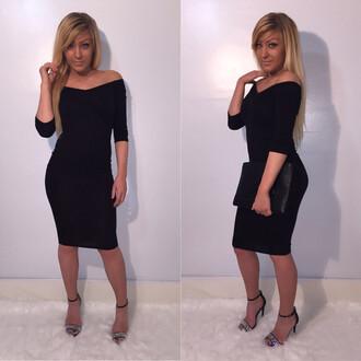 dress black dress lbd little black dress red bodycon dress sexy dress 2015 dresses spring dress off the shoulder dress