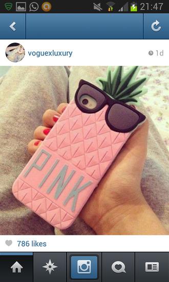 jewels pink phone case pastel instagramfashion ananas